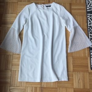 [Zara] Bell Sleeve White Dress!